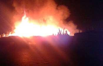 В Ташкенте сгорел второй рынок за месяц