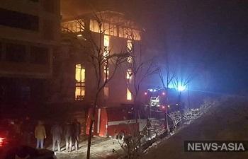 В Бишкеке сгорел аквапарк «Ала-Тоо»