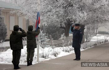 Военнослужащие Российской авиабазы ОДКБ «Кант» минутой молчания почтили память погибших