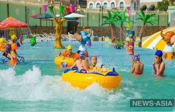 В Душанбе открыли самый большой в стране аквапарк