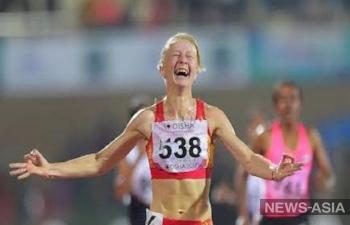Дарья Маслова из Киргизии стала золотым призером по легкой атлетике на Универсиаде в Китае