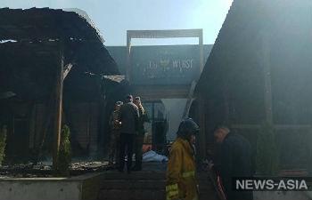 В столице Киргизии произошел крупный пожар, сгорело шесть кафе