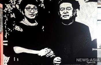 Киргизский художник создал необычный портрет из муки