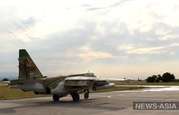 Российские летчики в Кыргызстане нанесли удары по условному противнику