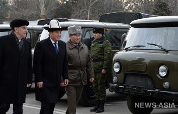 В Кыргызстан доставили первую партию российской военной техники