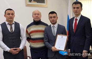 В Екатеринбурге наградили узбекистанца, спасавшего людей после обрушения дома в Магнитогорске