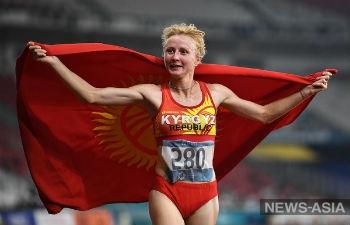 Легкоатлетка из Кыргызстана выиграла полумарафон в Казахстане