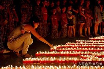 В столице Кыргызстана прошла мемориальная акция «Свеча памяти»