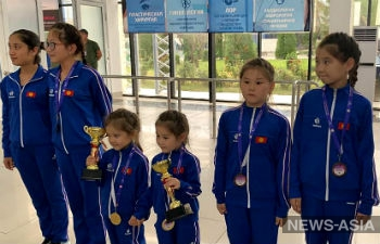 Юные гимнастки Кыргызстана завоевали 4 медали на турнире в Турции