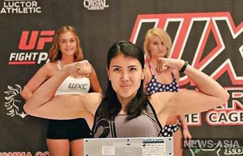 Девушка-боец из Кыргызстана проиграла дебютный поединок MMA в США