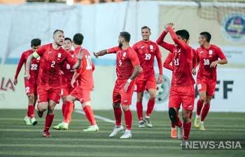 Сборная Кыргызстана занимает второе место в группе квалификации ЧМ-2022