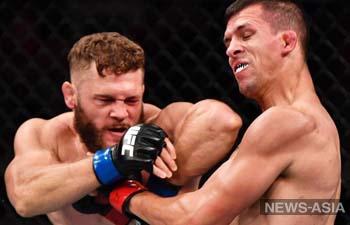 Боец из Кыргызстана Рафаэль Физиев одержал первую победу в UFC