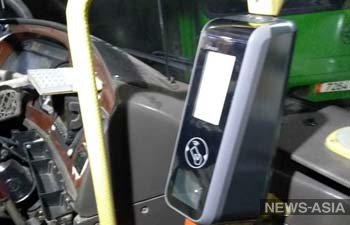 В общественном транспорте Бишкека начали установку валидаторов для электронных проездных