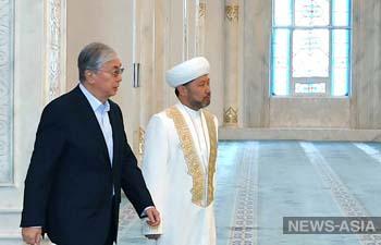 Касым-Жомарт Токаев встретился с новым лидером Духовного управления мусульман Казахстана