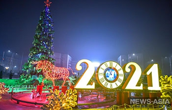 Новогодняя елка в Бишкеке попала в топ-5 самых высоких в СНГ