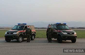 Российскую военную полицию в Таджикистане усилили новыми автомобилями