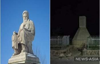 Талибы взорвали статую убитого лидера хазарии Абдула Али Мазари в Бамиане