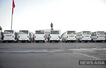 В Бишкек прибыло 210 новых автобусов