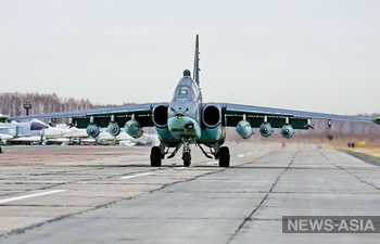 Авиабаза «Кант» в Киргизии пополнилась четырьмя штурмовиками Су-25