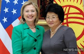 Роза Отунбаева госсекретарю США Хиллари Клинтон: Мы хотим мира и стабильности в Центральной Азии