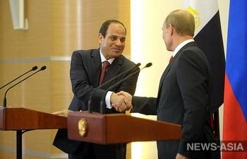 Лидеры России и Египта обсудили возможности создания зоны свободной торговли