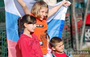 Лётчики российской авиабазы ОДКБ «Кант» посетили детский дом