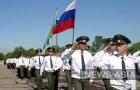 Военнослужащие авиабазы участвуют в параде, посвященному 99-летию ВВС России