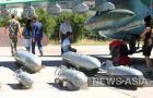 Выставка боевого снаряжения штурмовиков авиабазы