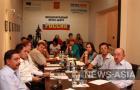 """Участники круглого стола """"21-я годовщина независимости Кыргызстана: события прошлого и перспективы будущего"""""""